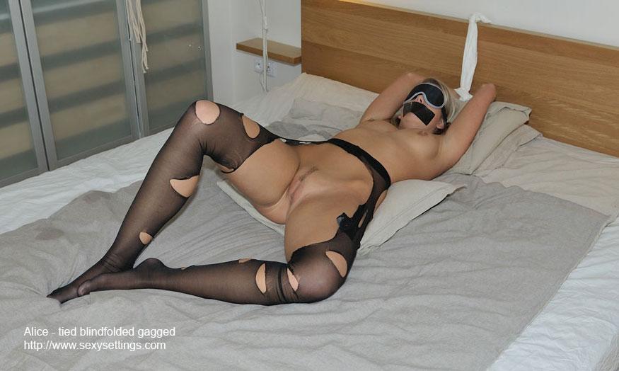 Nude blindfolded gagged girls