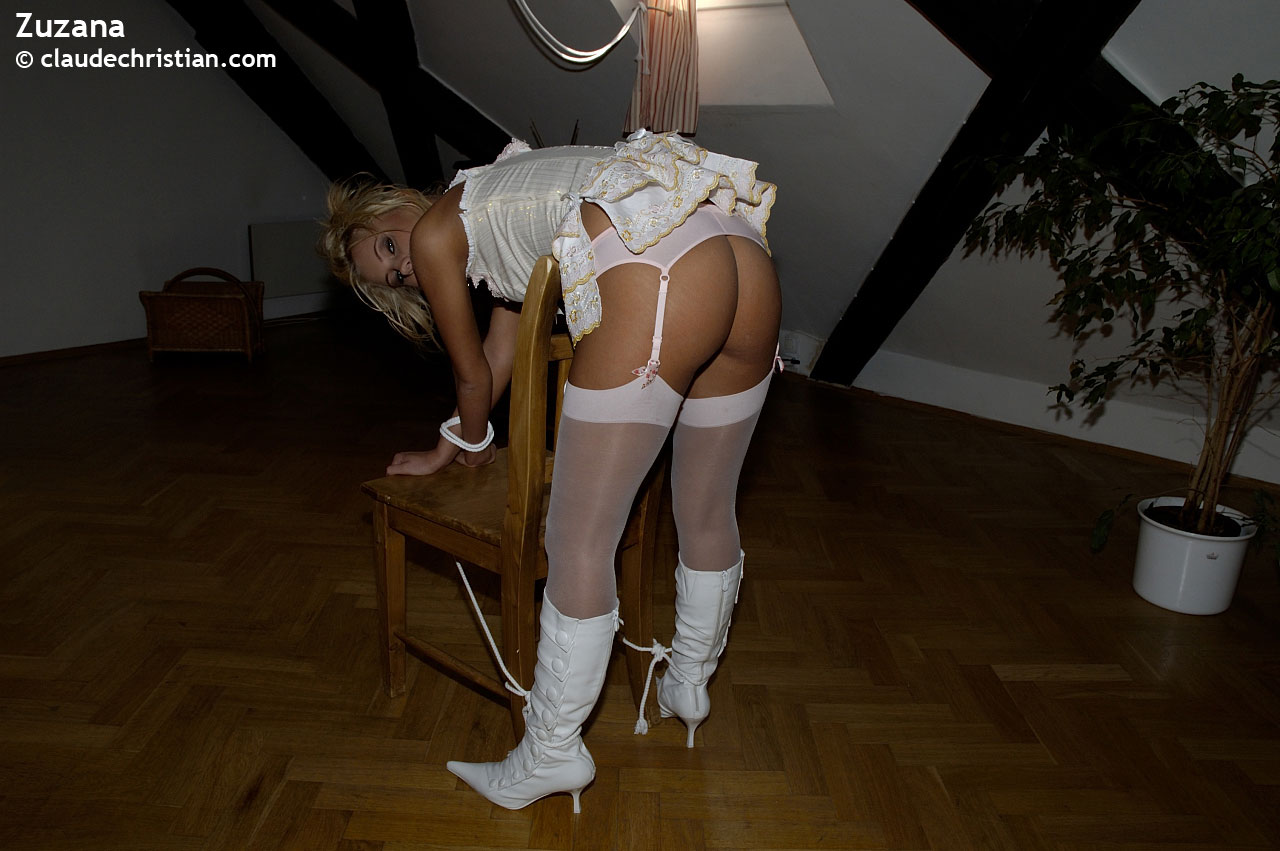 sexy girl tied bent over